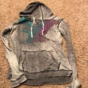 5/$10 American Eagle hoodie gray, medium